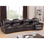 Bloomington Leather 4-Seat Home Theater Recliner