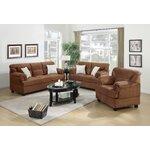 3 Piece Living Room Set Upholstery: Saddle Tan
