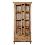 Alterosa Curio Rosewood Display Cabinet