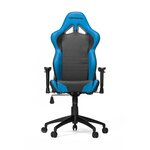 High-Back Gaming Office Chair with Arms Upholstery: Black/Blue