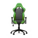 High-Back Gaming Office Chair with Arms Upholstery: Black/Green