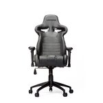 High-Back Gaming Office Chair with Arms Upholstery: Black/Carbon