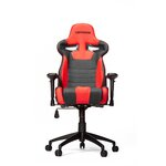 High-Back Gaming Office Chair with Arms Upholstery: Black/Red