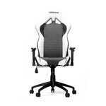 High-Back Gaming Office Chair with Arms Upholstery: Black/White