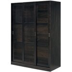 3 Sliding Door Armoire Finish: Java