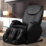 Hampton Edition Faux leather Zero Gravity Massage Chair Upholstery: Black