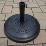 "20"" Rust-Free Cast Polyresin Star Multi-Use Umbrella Stand"