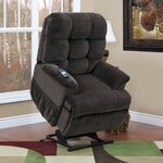 5555 Series Sleeper / Reclining Lift Chair with Extra Magazine Pocket Upholstery: Cabo - Godiva