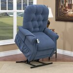 25 Series 3 Position Lift Chair with Extra Magazine Pocket Upholstery: Aaron - Williamsburg Blue