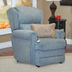 5400 Series Wall-a-Way Reclining Lift Chair with Coordinating Paisley Print Lumbar Pillow