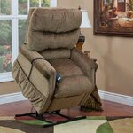 1100 Series 3 Position Lift Chair wth Heat Upholstery: Havana
