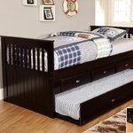 Twin Rake Daybed with Trundle Finish: Espresso