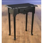 1 Drawer End Table Finish: Black