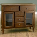 2 Glass Door Sideboard Finish: Brown