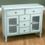 2 Glass Door Sideboard Finish: Light Blue