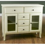 2 Glass Door Sideboard Finish: Antique White