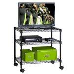 3 Shelf TV Steel Cart