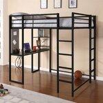 Abode Full Loft Bed Color: Black
