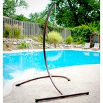 Arc Hanging Chair Stand Color: Bronze