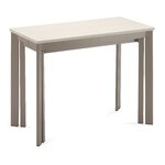 19.5 Dining Table Base Finish: Taupe, Top Finish: Sand Glass