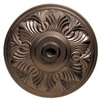 Art Deco Aluminum Umbrella Base in Bronze