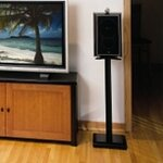 "24"" Fixed Height Speaker Stand Finish: Black"