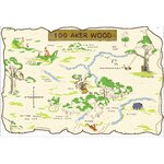 Winnie the Pooh and Friends 100 Aker Wood Peel and Stick Map