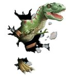 Tyrannosaurus Rex Through The Wall Peel and Stick Wall Mural