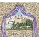 Enchanted Kingdom Castle Canopy Mural (8x9 ft)