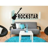 Rock Star Wall Decal (Many Colors Available)