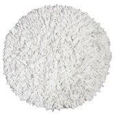 Calypso Cotton Jersey White Shag Round Rug