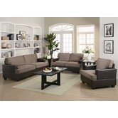Wildon Home New Deal 3 Piece Sofa Set in Dark Brown
