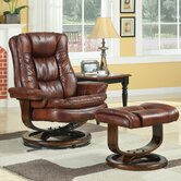 At Home Designs Scandia European Chair and Ottoman Set with Ample Padding