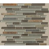 "Mixed Up 12"" x 12"" Random Linear Mosaic Slate Accent Tile in Pikes Peak"