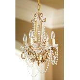 Chandelier with 4 Arm Frame in Antique Gold