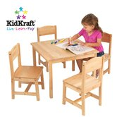 Farmhouse Kids' Table and Chairs Set in Natural