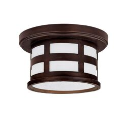 Mission Hills Outdoor Flush Mount in Burnished Bronze