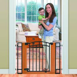 Stylish and Secure Wood and Metal Walk-Thru Gate