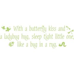 Butterfly Kisses Vinyl Wall Decal