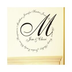 Family Name Monogram Wall Decal