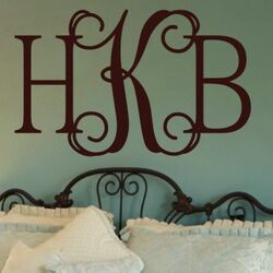 Hip Chick Monogram Wall Decal