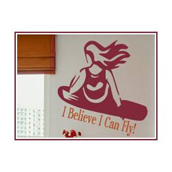 Snowboarder Girl Wall Decal
