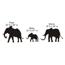 Elephant Family Chalkboard Wall Decal