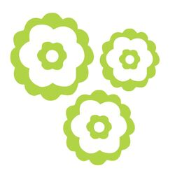 Natalie's Flower Set Vinyl Wall Decal