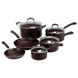 Professional Stainless Steel 10 Piece Cookware Set by T-fal