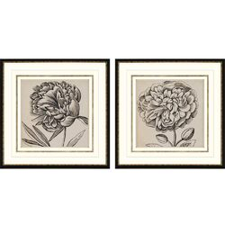 Graphic Floral I Giclee Wall Art Set