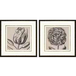 Graphic Floral II Giclee Wall Art Set