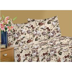 Textiles Plus Inc. Jersey Sheet Set in Floral Tanya | Wayfair