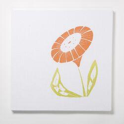 Sun Flower Textile Painting Print on Canvas