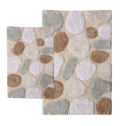 Pebbles Contemporary 2 Piece Bath Rug Set